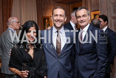 Parita Selfridge, Chief of Protocol Amb. Peter Selfridge, France Amb. Gerard Araud. Photo by Tony Powell. Michelin Guide DC Launch Party. Residence of France. September 13, 2016