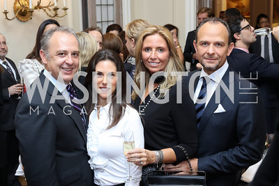 Arturo Sarukhan, Veronica Valencia, Fiola's Maria and Fabio Trabocchi. Photo by Tony Powell. Michelin Guide DC Launch Party. Residence of France. September 13, 2016