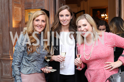 Simone Rathle, Meg Malloy, Laura Hayes. Photo by Tony Powell. Michelin Guide DC Launch Party. Residence of France. September 13, 2016