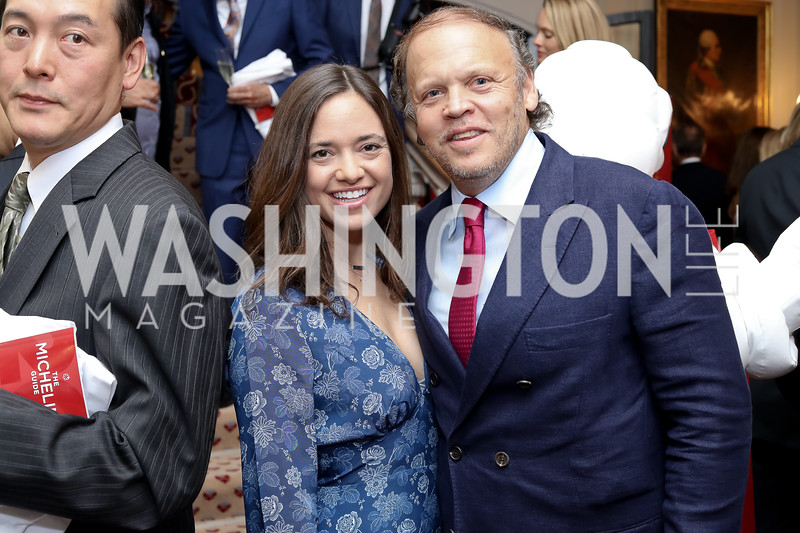 Sally and Mark Ein. Photo by Tony Powell. Michelin Guide DC Launch Party. Residence of France. September 13, 2016