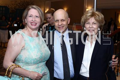 Julie Green, Jeffrey Slavin, Bitsey Folger. Photo by Tony Powell. N Street Village 10th Annual Empowerment Luncheon. Ritz Carlton. June 9, 2016