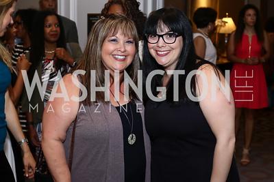 Vickie Orloff, Sandie Diamond. Photo by Tony Powell. N Street Village 10th Annual Empowerment Luncheon. Ritz Carlton. June 9, 2016