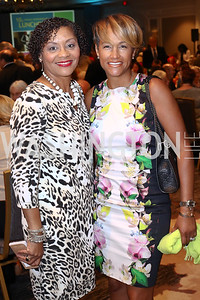 Kim Alfonso, Erica Bolden. Photo by Tony Powell. N Street Village 10th Annual Empowerment Luncheon. Ritz Carlton. June 9, 2016