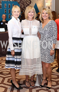 Catherine Thompson, Jacqui Michel, Sheila Stabile. Photo by Tony Powell. N Street Village 10th Annual Empowerment Luncheon. Ritz Carlton. June 9, 2016
