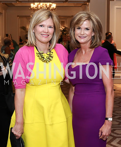Missy Edwards, Gail MacKinnon. Photo by Tony Powell. N Street Village 10th Annual Empowerment Luncheon. Ritz Carlton. June 9, 2016