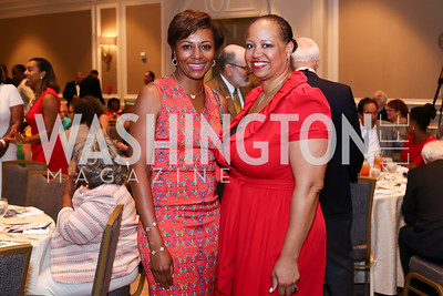 Sela Collins, Nicole Venable. Photo by Tony Powell. N Street Village 10th Annual Empowerment Luncheon. Ritz Carlton. June 9, 2016