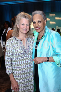 Linda Potter, Museum of African Art Director Johnetta Cole. Photo by Tony Powell. N Street Village 10th Annual Empowerment Luncheon. Ritz Carlton. June 9, 2016