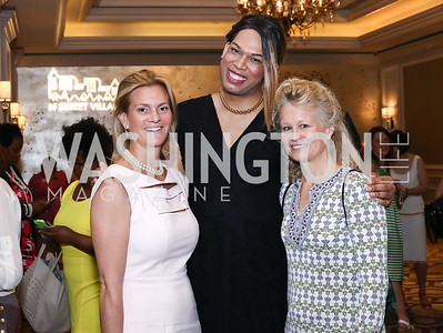 Katharine Weymouth, Courtney Hayes, Linda Potter. Photo by Tony Powell. N Street Village 10th Annual Empowerment Luncheon. Ritz Carlton. June 9, 2016