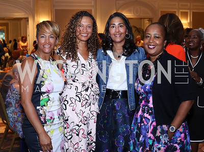 Erica Bolden, Lori Soto, Sonya Ali, Charlotte Reid. Photo by Tony Powell. N Street Village 10th Annual Empowerment Luncheon. Ritz Carlton. June 9, 2016