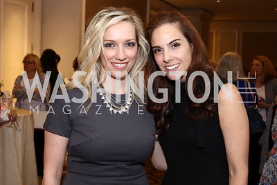Karen Wawrzaszek, Melanie Hayes. Photo by Tony Powell. N Street Village 10th Annual Empowerment Luncheon. Ritz Carlton. June 9, 2016