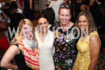 Valerie Cline, Claudia Vitale, Mandy Mills, Kymber Menkiti. Photo by Tony Powell. N Street Village 10th Annual Empowerment Luncheon. Ritz Carlton. June 9, 2016