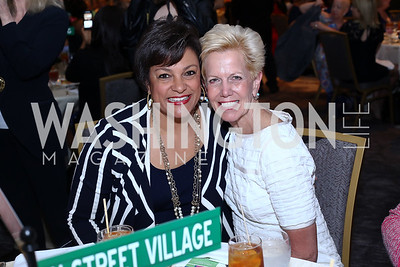 Debbi Jarvis, Catherine Meloy. Photo by Tony Powell. N Street Village 10th Annual Empowerment Luncheon. Ritz Carlton. June 9, 2016