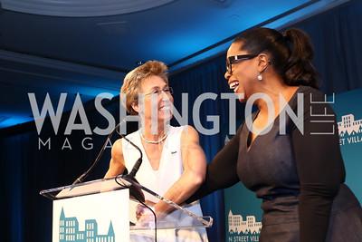 Schroeder Stribling, Oprah Winfrey. Photo by Tony Powell. N Street Village 10th Annual Empowerment Luncheon. Ritz Carlton. June 9, 2016