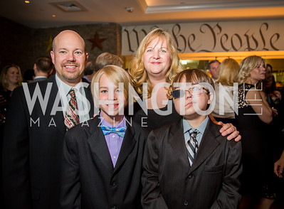 Mike, Cayden, Tammy, and Connor O'Brien. Photo by Erin Schaff. 'An Evening for Hope' Gala to Benefit The Children's Inn at NIH. The Ritz-Carlton Tyson's Corner. May 7, 2016.