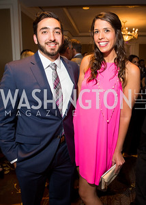 Andrew Cox, Allie Smith. Photo by Erin Schaff. 'An Evening for Hope' Gala to Benefit The Children's Inn at NIH. The Ritz-Carlton Tyson's Corner. May 7, 2016.
