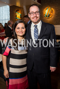 Cecilia Martinez, Edmond Byrnes. Photo by Erin Schaff. 'An Evening for Hope' Gala to Benefit The Children's Inn at NIH. The Ritz-Carlton Tyson's Corner. May 7, 2016.
