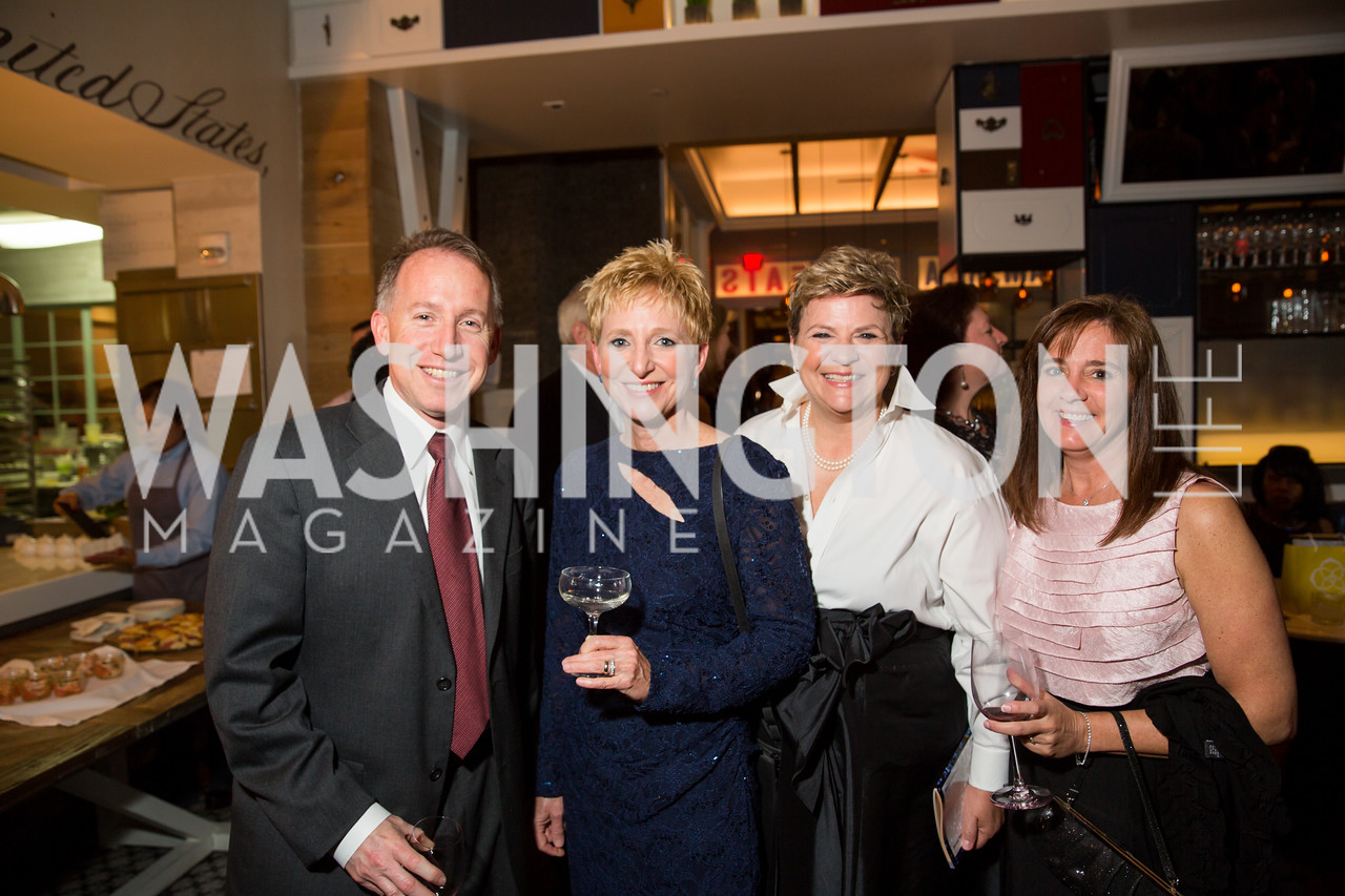 Mike Danick, Kim Kennedy, Beverly Roberts, Jenny Danick. Photo by Erin Schaff. 'An Evening for Hope' Gala to Benefit The Children's Inn at NIH. The Ritz-Carlton Tyson's Corner. May 7, 2016.