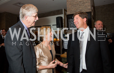 NIH Director Dr. Francis S. Collins and wife Diane Baker, Todd Pantezzi. Photo by Erin Schaff. 'An Evening for Hope' Gala to Benefit The Children's Inn at NIH. The Ritz-Carlton Tyson's Corner. May 7, 2016.