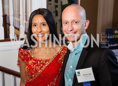 Bhaval Shah, Matthew Bell. Photo by Erin Schaff. 'An Evening for Hope' Gala to Benefit The Children's Inn at NIH. The Ritz-Carlton Tyson's Corner. May 7, 2016.