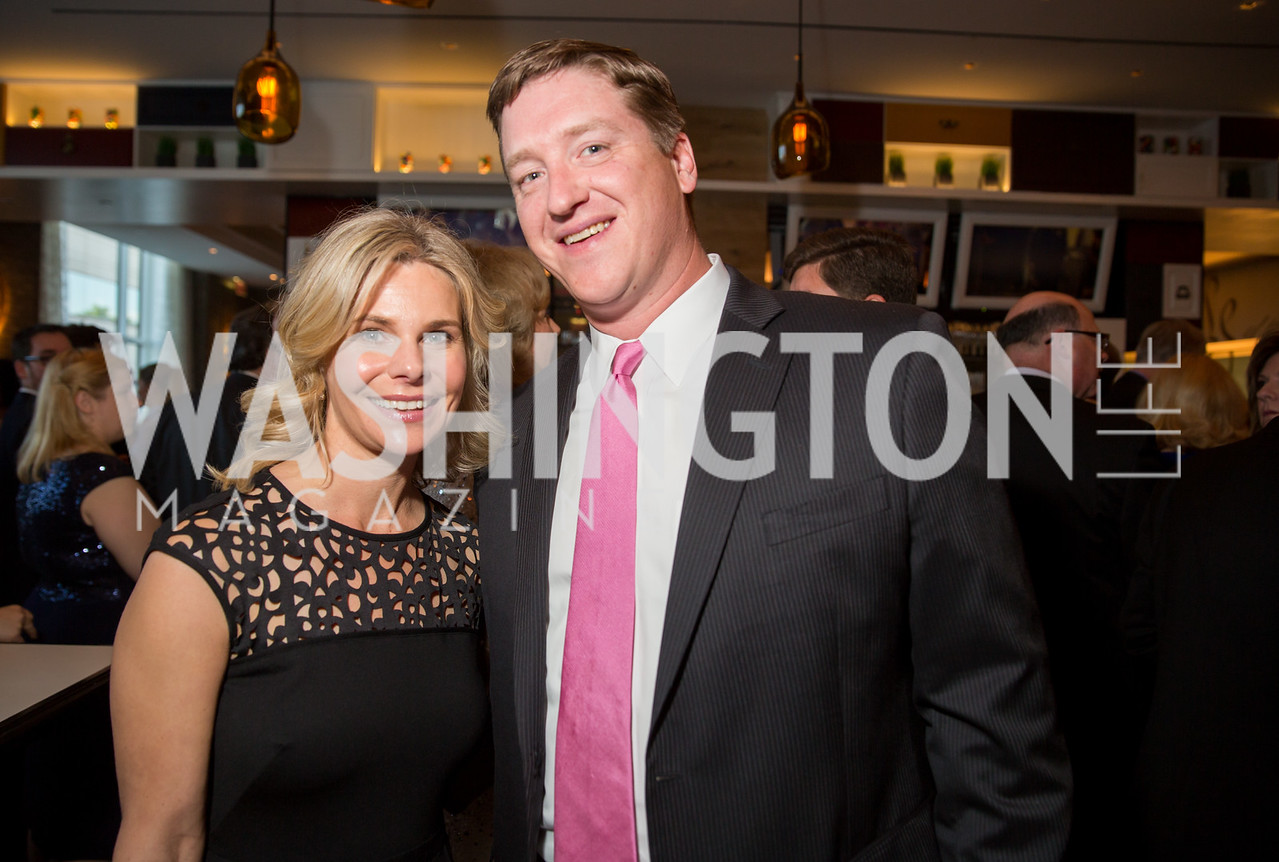 Jennie Lucca, Ryan Riel. Photo by Erin Schaff. 'An Evening for Hope' Gala to Benefit The Children's Inn at NIH. The Ritz-Carlton Tyson's Corner. May 7, 2016.