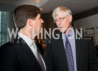 Todd Pantezzi, NIH Director Dr. Francis S. Collins. Photo by Erin Schaff. 'An Evening for Hope' Gala to Benefit The Children's Inn at NIH. The Ritz-Carlton Tyson's Corner. May 7, 2016.