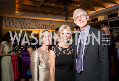 Diane Baker, Children's Inn CEO Jennie Lucca, NIH Director Dr. Francis S. Collins. Photo by Erin Schaff. 'An Evening for Hope' Gala to Benefit The Children's Inn at NIH. The Ritz-Carlton Tyson's Corner. May 7, 2016.