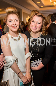 April Garber, Amanda Smith. Photo by Erin Schaff. 'An Evening for Hope' Gala to Benefit The Children's Inn at NIH. The Ritz-Carlton Tyson's Corner. May 7, 2016.