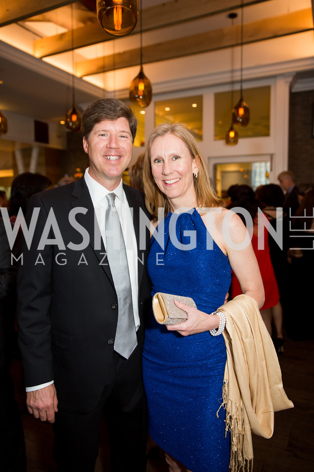 Todd Pantezzi, Event Chair and SVP ICF International and Tracy Talbot. Photo by Erin Schaff. 'An Evening for Hope' Gala to Benefit The Children's Inn at NIH. The Ritz-Carlton Tyson's Corner. May 7, 2016.