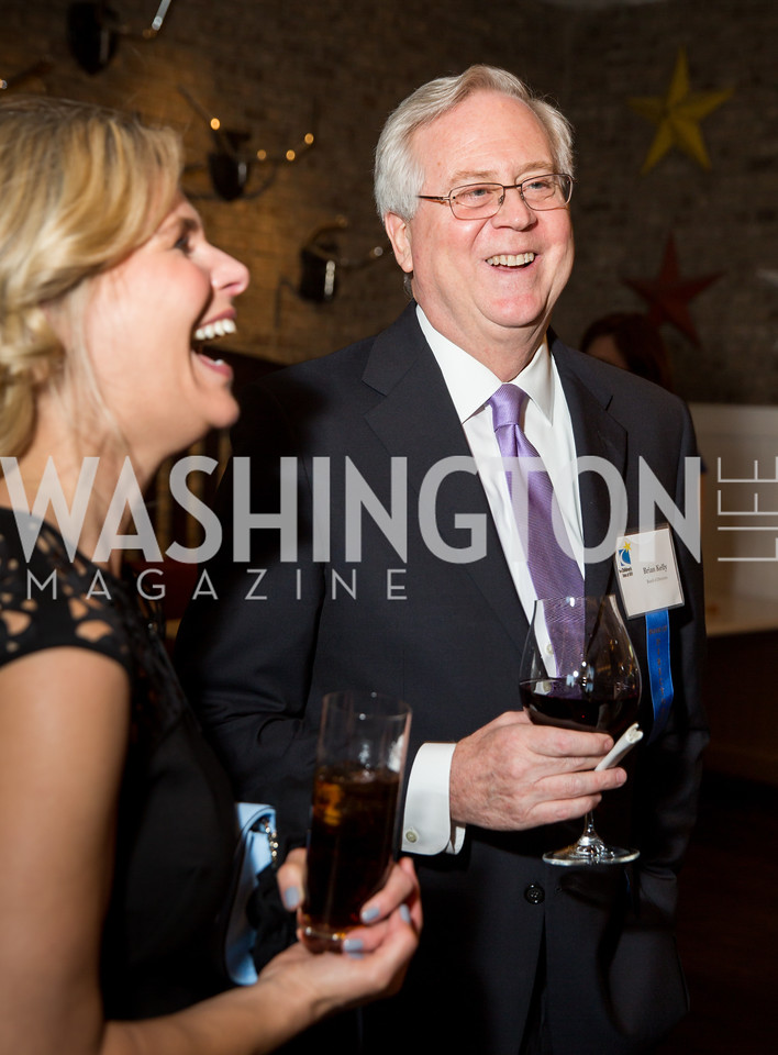 Children's Inn CEO Jennie Lucca, Brian Kelly. Photo by Erin Schaff. 'An Evening for Hope' Gala to Benefit The Children's Inn at NIH. The Ritz-Carlton Tyson's Corner. May 7, 2016.