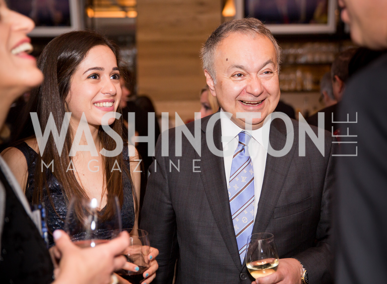 Sara Elemad-Moghadam, Jim Moghadam. Photo by Erin Schaff. 'An Evening for Hope' Gala to Benefit The Children's Inn at NIH. The Ritz-Carlton Tyson's Corner. May 7, 2016.