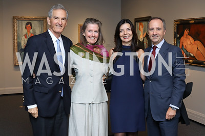 Dodge Thompson, Colleen Daly, Micaela Varricchio and Italy Amb. Armando Varricchio. Photo by Tony Powell. National Gallery East Wing Reopening. September 29, 2016