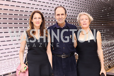 Lisa Jacobs, Artist William Anastasi and Artist Dove Bradshaw. Photo by Tony Powell. National Gallery East Wing Reopening. September 29, 2016