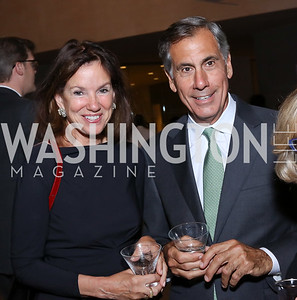 Frederica and George Valanos. Photo by Tony Powell. National Gallery East Wing Reopening. September 29, 2016