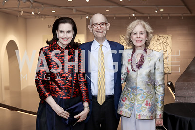 Alexandra de Borchgrave, William Nitze, Ann Nitze. Photo by Tony Powell. National Gallery East Wing Reopening. September 29, 2016