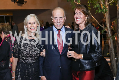 Willee Lewis, Rob Liberatore, Debra Kraft. Photo by Tony Powell. National Gallery East Wing Reopening. September 29, 2016