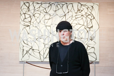 Artist Brice Marden. Photo by Tony Powell. National Gallery East Wing Reopening. September 29, 2016