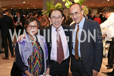 Marilou and Ken Hakuta, Harry Cooper. Photo by Tony Powell. National Gallery East Wing Reopening. September 29, 2016