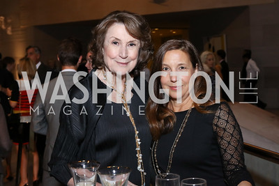 Virginia Dwan, Pamela Markoya. Photo by Tony Powell. National Gallery East Wing Reopening. September 29, 2016
