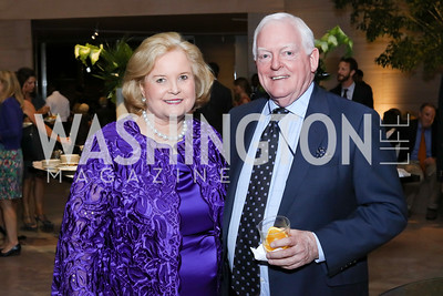 Sharon Percy Rockefeller, Director Rusty Powell. Photo by Tony Powell. National Gallery East Wing Reopening. September 29, 2016