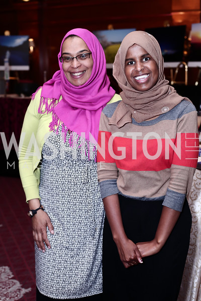 Kidist James, Khadra Hassan. Photo by Tony Powell. Cherry Blossom Art Reception. Willard Hotel. April 14, 2016