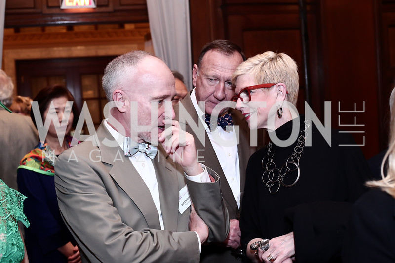 Bill Christian, Bruce and Molly Beth Malcolm. Photo by Tony Powell. Cherry Blossom Art Reception. Willard Hotel. April 14, 2016