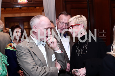 Bill Christian, Bruce and Molly Beth Malcolm. Photo by Tony Powell. Cherry Blossom Art Reception. Willard Hotel. April 14, 2016