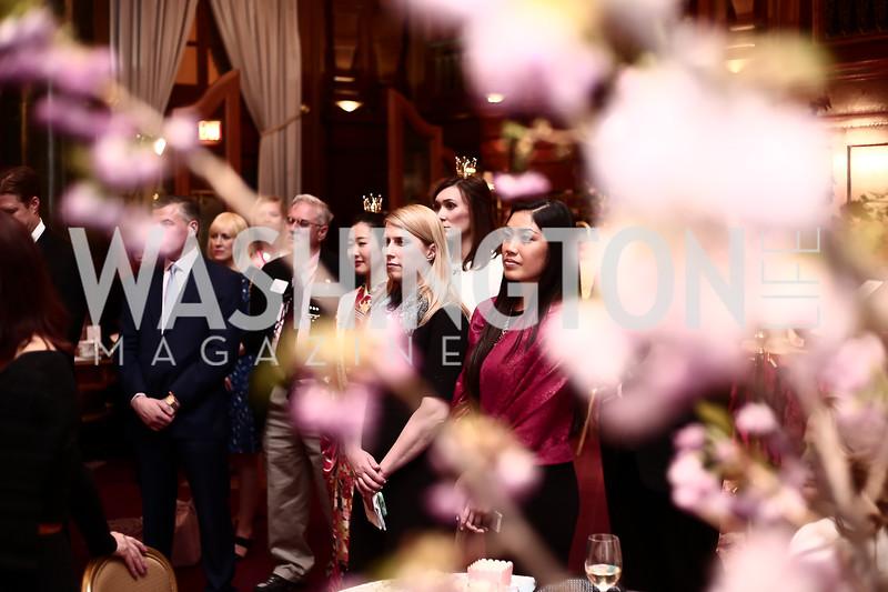 Amy Anda, Shayreen Lum. Photo by Tony Powell. Cherry Blossom Art Reception. Willard Hotel. April 14, 2016