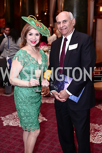 Teri Gálvez, Jonathan Kahan. Photo by Tony Powell. Cherry Blossom Art Reception. Willard Hotel. April 14, 2016
