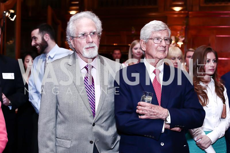 Artist John Gable and Oliver T. Carr. Photo by Tony Powell. Cherry Blossom Art Reception. Willard Hotel. April 14, 2016