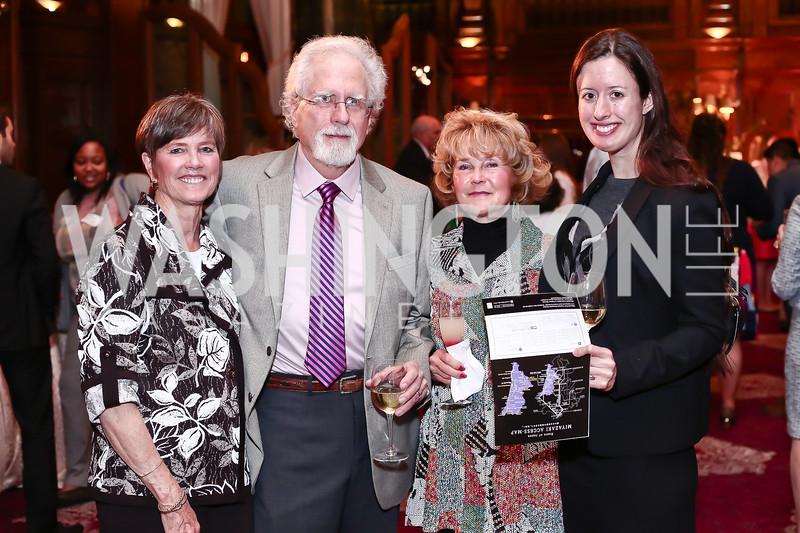 Kathy Carr, John Gable, Bobbi Gable, Winter Casey. Photo by Tony Powell. Cherry Blossom Art Reception. Willard Hotel. April 14, 2016