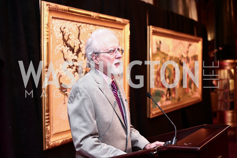 Artist John Gable. Photo by Tony Powell. Cherry Blossom Art Reception. Willard Hotel. April 14, 2016