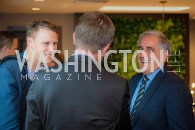 Daniel Lippman,Dave Burwick, Peet's Coffee and Tea, Opening in Georgetown, September 27, 2016, photo by Ben Droz