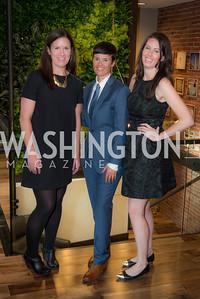 Meghan Hurley, Andrea Fernandes, and Elizabeth Ricardo,Peet's Coffee and Tea, Opening in Georgetown, September 27, 2016, photo by Ben Droz