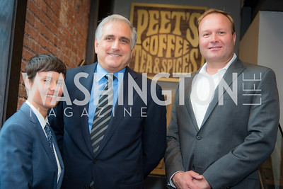 Andrea Fernandes , Dave Burwick, Greg Brening Peet's Coffee and Tea, Opening in Georgetown, September 27, 2016, photo by Ben Droz